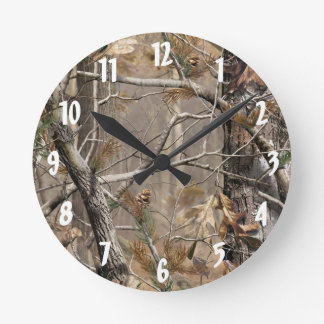 Camo Camouflage Hunting Real Tree Hunt Wall Clock