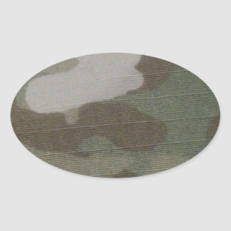 camo Camouflage Pattern Oval Sticker