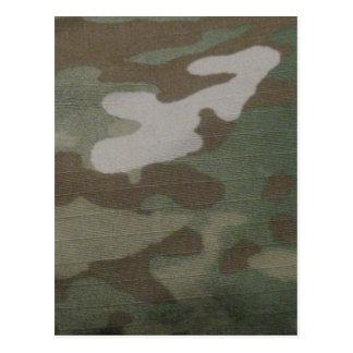 camo Camouflage Pattern Postcard