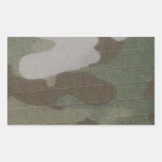 camo Camouflage Pattern Rectangular Sticker