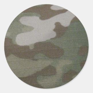 camo Camouflage Pattern Round Sticker