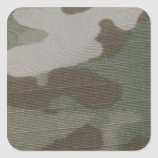 camo Camouflage Pattern Square Sticker