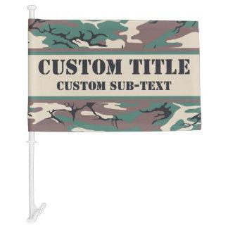 Camo Car Flag w/ Custom Text