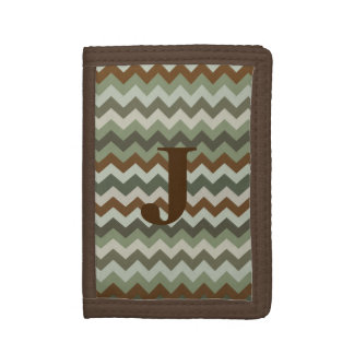 Camo Chevron Monogram Wallet