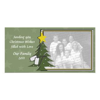 Camo Christmas Dogtags and Tree Card