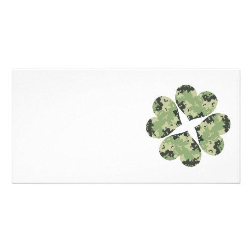 Camo Clover Photo Card Template