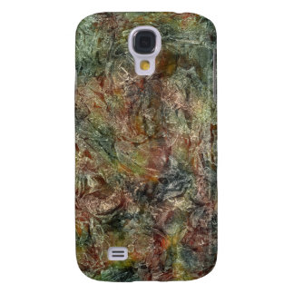 Camo Colored Frosted Autumn Abstract Galaxy S4 Cover