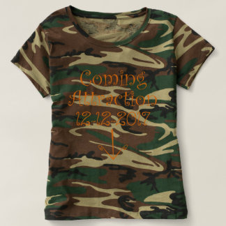 "Camo ""Coming Attraction"" Due Date & Arrow #2 T-Shirt"
