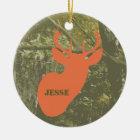 Camo & Deer Head Personalised Ornament