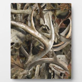 Camo Deer Skulls Plaque