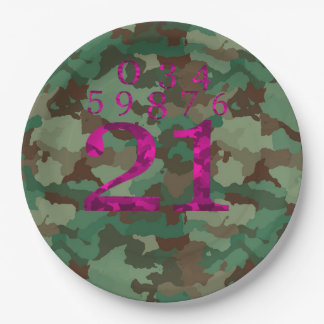 Camo - DELETE THE NUMBERS YOU DON'T NEED Paper Plate