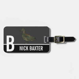 Camo Duck Hunting Season Monogram Custom Tag