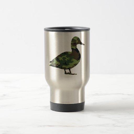 Camo Duck Travel Coffee Mug