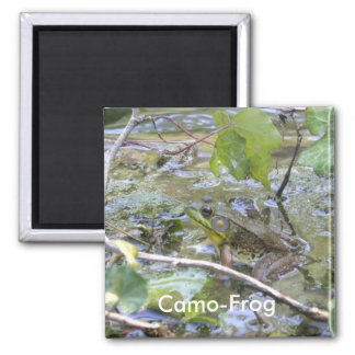 Camo-frog! Green Frog Magnet