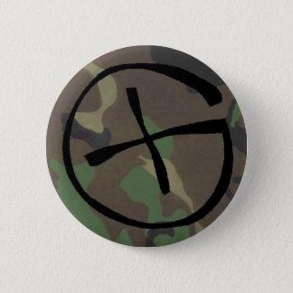 camo, Geocaching 6 Cm Round Badge