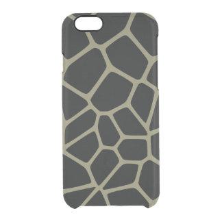 Camo Giraffe Pattern Clear iPhone 6/6S Case
