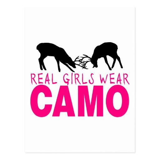 CAMO GIRL POSTCARDS