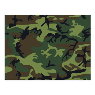 [CAMO-GR-1] Green and brown camo Post Cards
