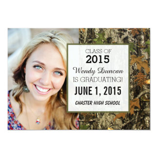 Camo Graduation Personalized Announcement