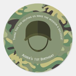 Camo Green | Army Birthday Sticker