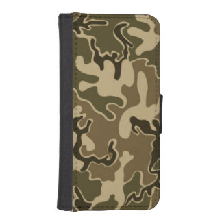 """Camo Green pattern iPhone """"5 5s"""" Wallet case"""