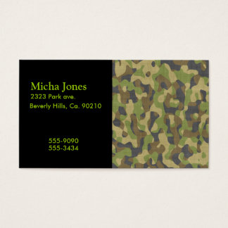 Camo Greens & Browns Business Card