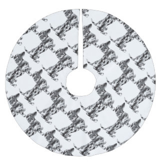 Camo-Grey-Doxie Brushed Polyester Tree Skirt