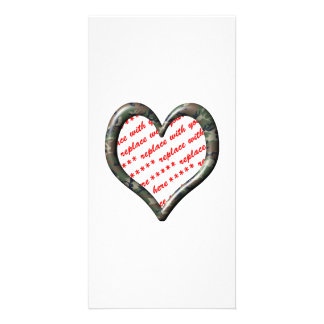 Camo Heart - Forest - Template Photo Frame Photo Cards