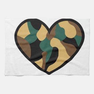 Camo Heart Kitchen Towels