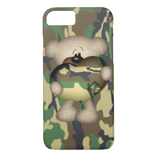 Camo Heart Military Teddy Bear iPhone 8/7 Case