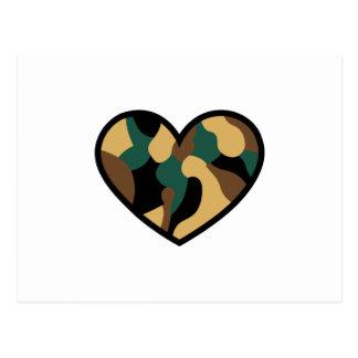 Camo Heart Postcard