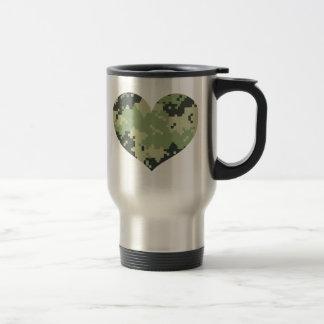 Camo Heart Travel Mug