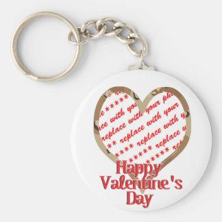 Camo Heart Valentine's Day Photo Frame Key Ring