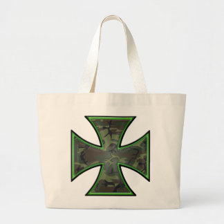 Camo Iron Cross Tote Bag