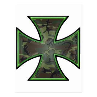 Camo Iron Cross Post Card