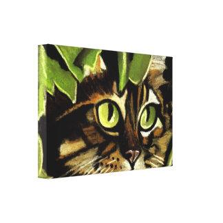 Camo Kitty Canvas Print