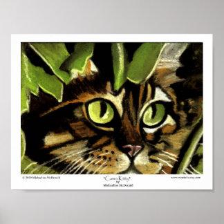 Camo Kitty Print