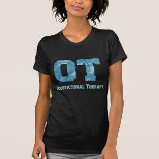 camo letters blue T-Shirt