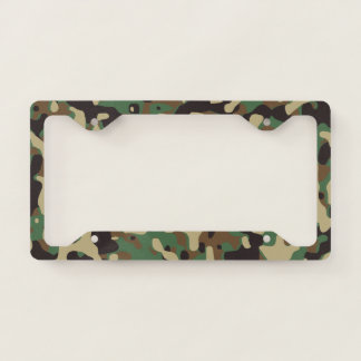 Camo license plate licence plate frame