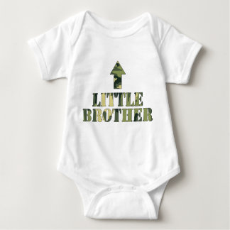 Camo LITTLE Brother shirt / great baby shower idea