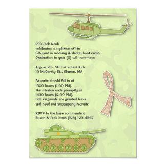 "Camo Military Birthday Flat Invitation 5"" X 7"" Invitation Card"