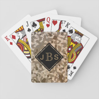 Camo Military Camouflage for Soldier or Hunter Playing Cards