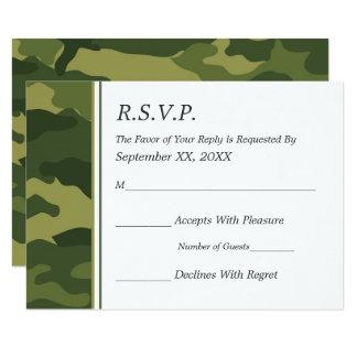 Camo Military Wedding RSVP Card