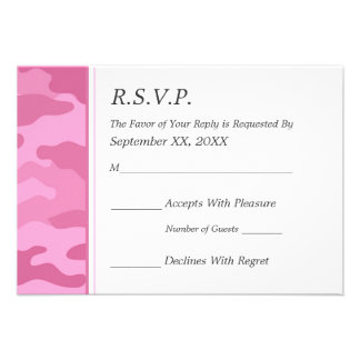 Camo Military Wedding RSVP Custom Invite
