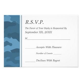 Camo Military Wedding RSVP Announcements