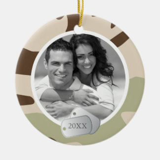 Camo Pattern and Dog Tags Ornaments