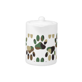 Camo Pattern Dog Paw Print