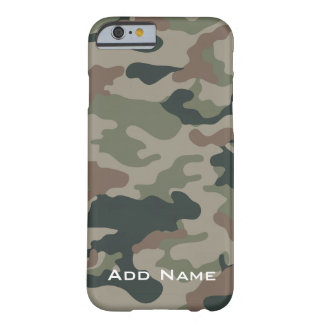 Camo Pattern for hunters or military with Name Barely There iPhone 6 Case