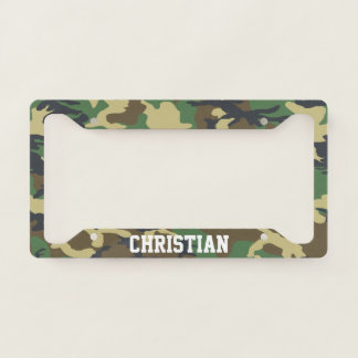 Camo Pattern Green And Brown Themed Personalised