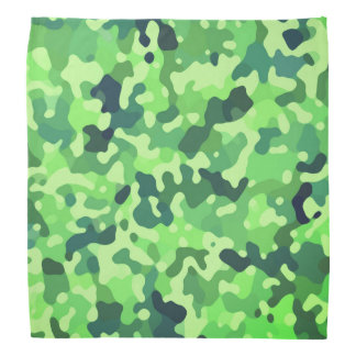 Camo Pattern - Green Blue Black Bandana